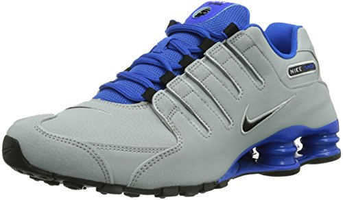Nike Shox Nz Eu Herren Low-Top Sneaker Mehrfarbig (Wlf Gry/Blk Hypr Cblt Mtllc Sl) 41