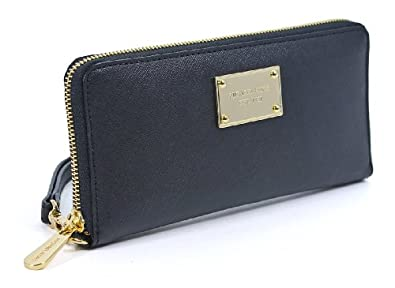 Michael Kors iPhone Zip-Around Continental Wallet in Black