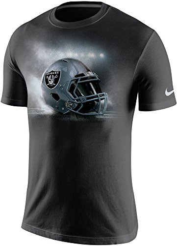 Nike Oakland Raiders NFL Vapor Helmet Men's T-Shirt (Large, Black) (Nike Vapor Shirt compare prices)
