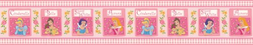 Blue Mountain Wallcoverings WL2112B Disney Princess Pink Original Self-Stick Wall Border Imperial - 1