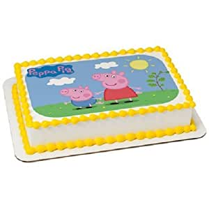 Amazon.com: Whimsical Practicality Peppa Pig Edible Image Cake Topper