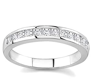Platinum Channel-Set Princess-Cut Diamond Band (G/VS2, 3/4 ct. tw.)