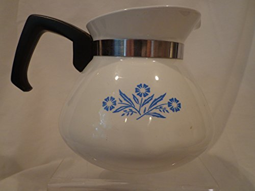 Corning Ware Blue Cornflower Teapot, 6 cup ***NO LID, Corningware Beverage Server