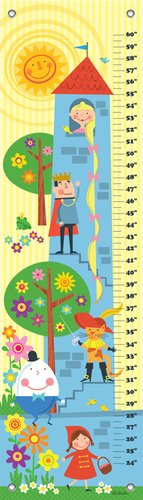 "Oopsy Daisy Growth Chart, Fairytale Stack, 12"" x 42"""