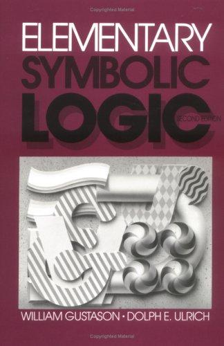 Elementary Symbolic Logic088133491X