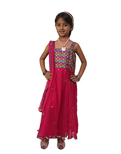 EBRY Kids Long Frock Suit with Churidar & duppata (10-11 Years)