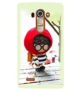 Printvisa Animated Cute Boy Going To School Back Case Cover for LG G4::LG G4 H815