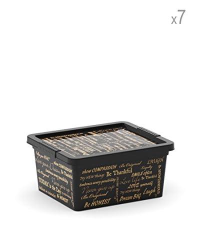 Kis Set 7 C Box Xxs Nero/oro