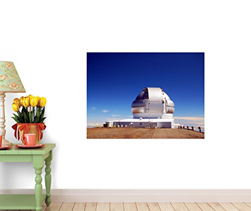 Hawaii - Big Island Mauna Kea Gemini Telescope Wall Decal - 42 Inches W X 31 Inches H - Peel And Stick Removable Graphic