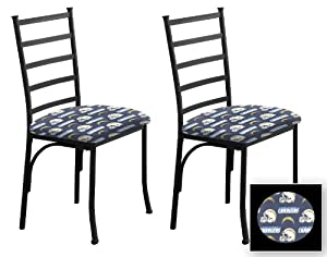 2 New Black Finish Metal Dining Chairs With A
