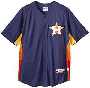 MLB Houston Astros Batting Practice On Field Jersey, Navy Rainbow by Majestic