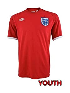 Umbro England Away Youth Shirt 10/11