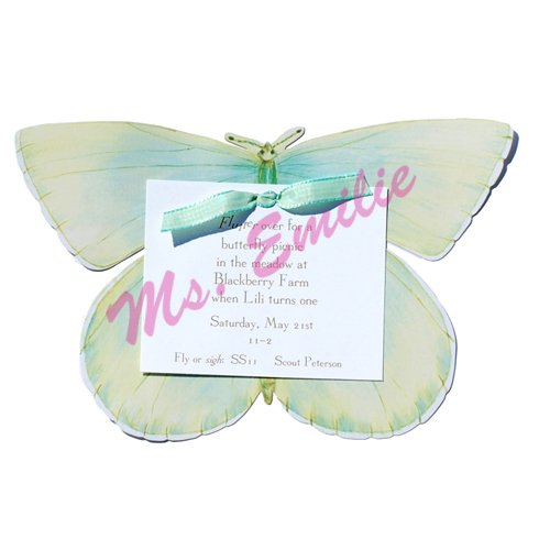 Blue Butterfly Die-Cut Card, Pack Of 10 front-942813