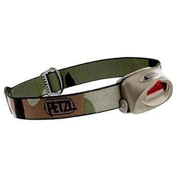 Petzl-Lampe Frontale 3 Led Petzl Tactikka Camouflage + Volet Filtre Rouge Pivotant + Piles