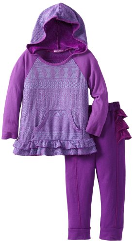 #1 LAmade Baby-Girls Infant Thalia Hoody And Berta Pant, Poppy, 18-24 Months  Best Offer