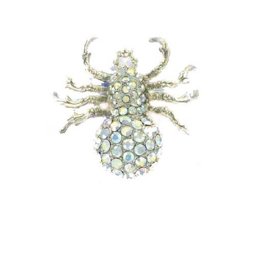 Fashion Trendy Spider Brooch Silver #014755