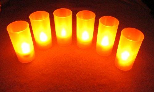 【 Bahagia 】癒しの空間【 LED キャンドル ライト 6個セット 】自然に揺らぐ ロウソク 炎 照明 パーティ イベント キャンドルライト インテリア 雑貨【 日本正規品 】LED グッズ