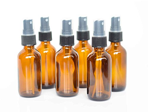 Everything4Oils 2oz Amber Glass Bottle with Pump for Essential Oils (6-pack) (Gear Oil Pump Bottle compare prices)