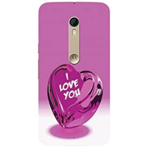 Pink Heart - Mobile Back Case Cover For Motorola Moto X Style