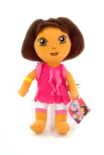 """Licensed Dora the Eplorer 10"""" Mini Plush Doll FIgure - PINK OUTFIT - 1"""