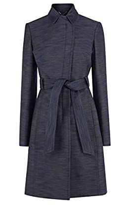 Tailored denim effect trench