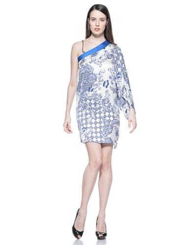 Phard Vestido Floralied Blanco / Azul
