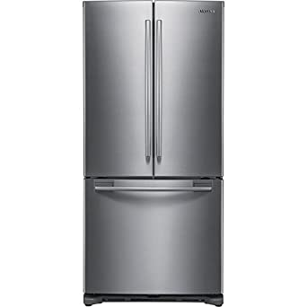 Samsung rf197acrs 32 1 4 18 cu ft french for 18 cubic foot french door refrigerator
