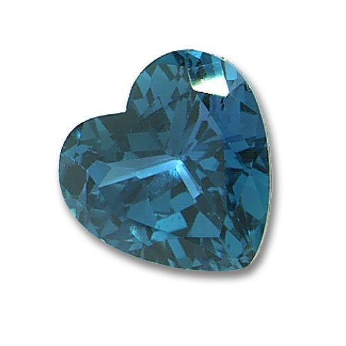 3x3mm Heart Shaped Gem Quality Chatham-Created