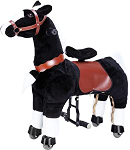 Ride on Black Horse Pony Scooters