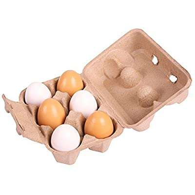 Bigjigs Toys Six Eggs in Carton