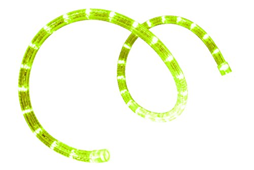 "Bird Dog Pre-Cut Led 2-Wire 120 Volt 1/2"" Lime Green Rope Light (Horizontal) 120.25 Feet"