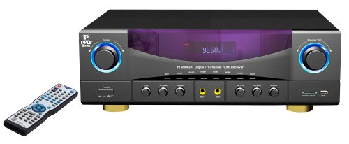 Pyle Home Pt980Auh 7.1-Channel 350 Watts Am/Fm Radio With Usb/Sd Card And Hdmi Amplifier Receiver