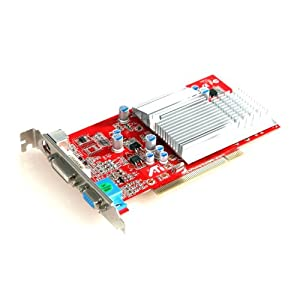 Ati radeon 9200 agp with 256mb videocard, agp 4x 8x, dvi vga and.