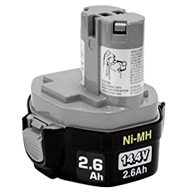 Makita 193158-3 1434 14-2/5-Volt 2-3/5-Amp Hour NiMH Pod Style Battery