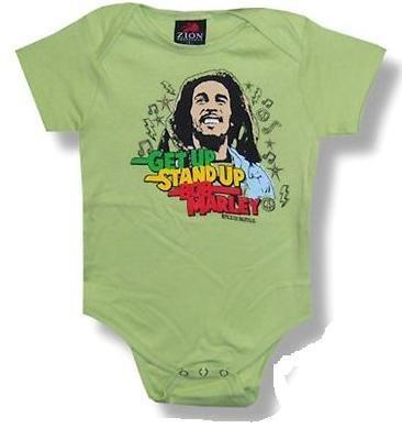 Bob Marley Bodysuit 'Get Up Stand Up' Infant Onesie (12-18 Months)