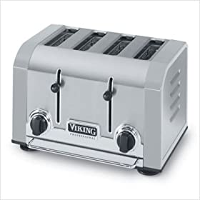Viking Professional 4 Slot Toaster, Stainless Steel