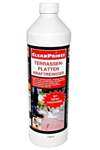 3 x 1 liter 3 liter cleanprince terrassenplatten kraftreiniger 1000ml au enbereich steine. Black Bedroom Furniture Sets. Home Design Ideas