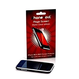 PhoneDevil Magic Screen Protector: Matte Clear (anti-glare) edition--for Apple iPhone 3G & iPhone 3GS