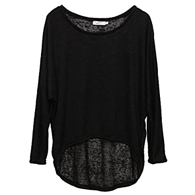 WANGSCANIS Womens Plus Size Knitwear Batwing Sleeve Pullover Casual Baggy Jumper Tops
