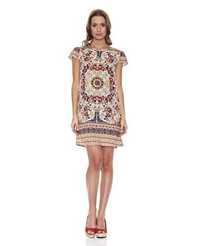 Peace & Love Vestido Estampado Multicolor