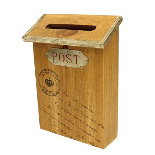 ナチュラルウッドクラフト アンティーク調 郵便ポスト スリムタイプ