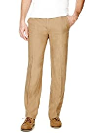 Blue Harbour Pure Linen Straight Leg Regular Fit Chinos [T17-5430B-S]