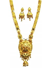 Shingar Jewellery Ksvk Jewels Antique Gold Plated Necklace Set (Bandhel) For Women (8918-g-long)