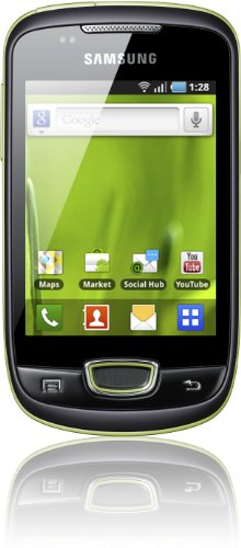 Samsung S5570 Galaxy Mini Smartphone (8,1 cm (3,2 Zoll) Display, Touchscreen, 3 Megapixel kamera, Android OS) lime green