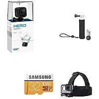 GoPro HERO Session HD Waterproof Action Camera + GoPro Handler + Samsung 32GB SD Card + AmazonBasics Headstrap