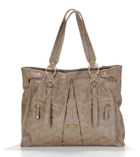 timi & leslie Dawn Convertible Diaper Bag, Taupe