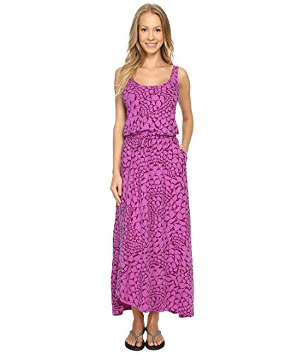 The North Face On The Go Maxi Dress Sweet Violet Organic Tonal Print Women's Dress (The North Face Breeze compare prices)