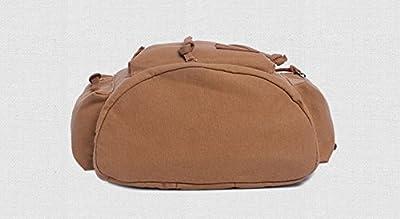 Wuiyepo Homme Vintage Canvas Sac à dos multifonctions sac de randonnée de sac d'école