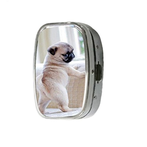 generic-cute-pug-customize-unique-silver-square-pill-box-medicine-tablet-organizer-or-coin-purse-by-