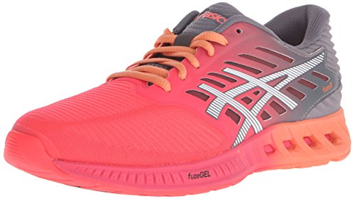 ASICS Women's Fuzex Running Shoe, Diva Pink/White/Carbon, 9.5 M US